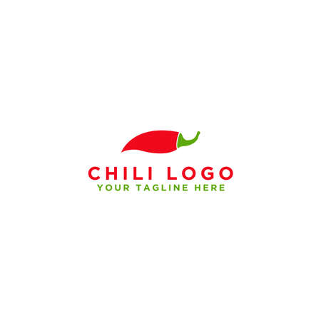 Chili logo design. Isolated vegetables. Vector illustration.