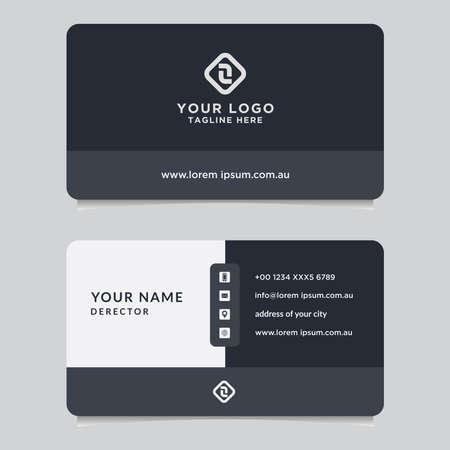Abstract business card template. Modern vector design