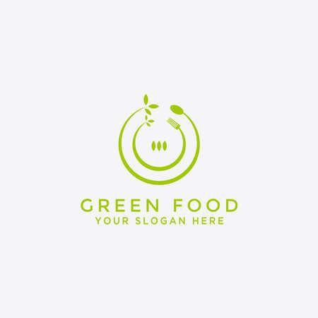 Green food nature Logo design - Vector
