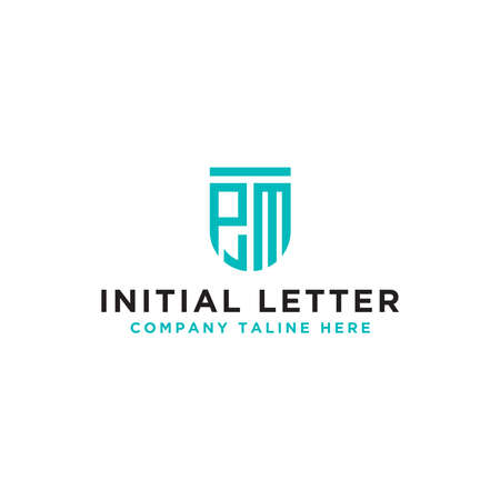 logo design inspiration, for companies from the initial letters to the PM logo icon. -Vectors  イラスト・ベクター素材