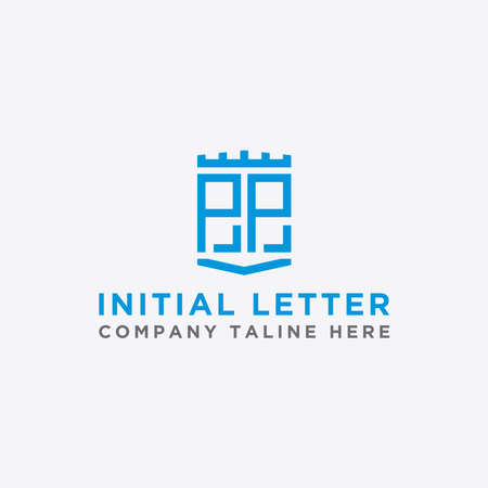 logo design inspiration, for companies from the initial letters of the PP logo icon. -Vectors