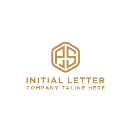 logo design inspiration, for companies from the initial letters PS logo icon. -Vectors