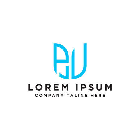 logo design inspiration, for companies from the initial letters of the PV logo icon. -Vectors