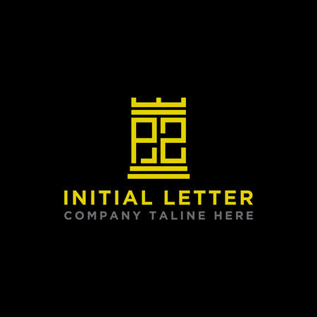 logo design inspiration, for companies from the initial letters PZ logo icon. -Vectors Çizim