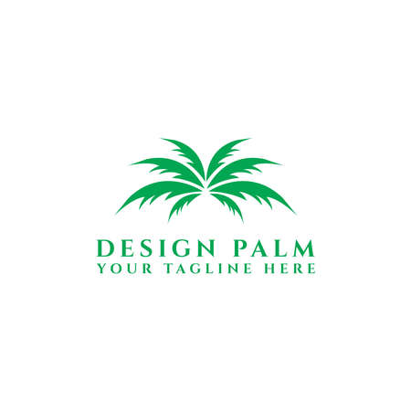 Palm Tree Design Logo Template, - Vector eps 10, template icon. - vector