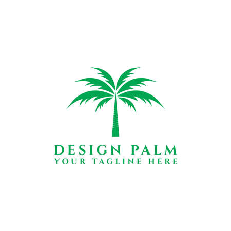 Palm Tree Design Logo Template, - Vector eps 10, template icon. - vector Çizim