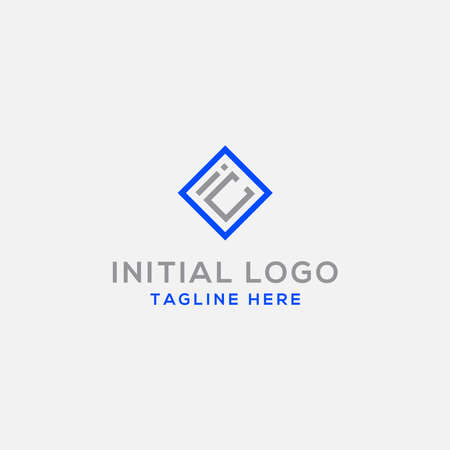 logo design inspiration for companies from the initial letters of the IC logo icon. -Vector Illusztráció