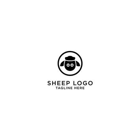 Template sheep logo icon design 矢量图像