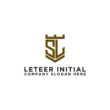 Inspiring logo designs for companies from the initial letters SL logo icon. -Vectors