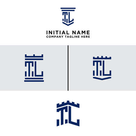 Inspiring logo design Set, for companies from the initial letters of the TL logo icon. -Vectors