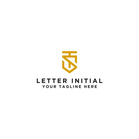 Logo The initial design of the letter TS. - Vector
