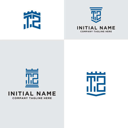 Inspiring logo design Set, for companies from the initial letters of the TZ logo icon. -Vectors