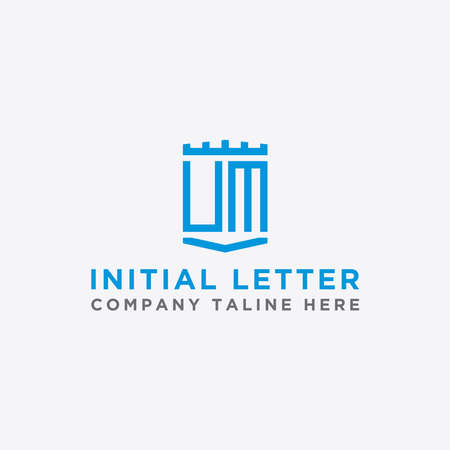logo design inspiration for companies from the initial letters of the UM logo icon. -Vector