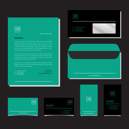 Corporate identity templates for your business including Business Cards, Envelopes and Letterhead Designs
