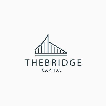 bridge vector icon design template. - Vector