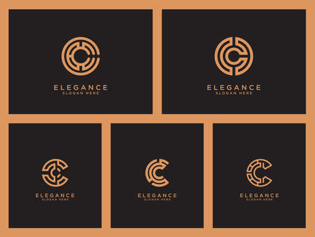 C Design logo Se elegant trendy artistic alphabet logo icon Vector