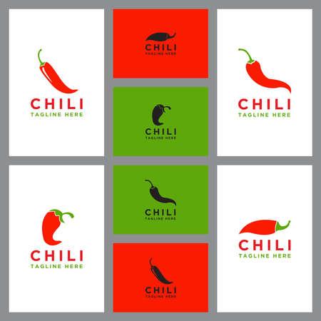 Template Chili logo set design
