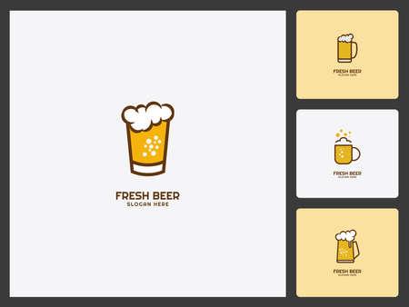 Beer design Set Logo template Vector Illusztráció