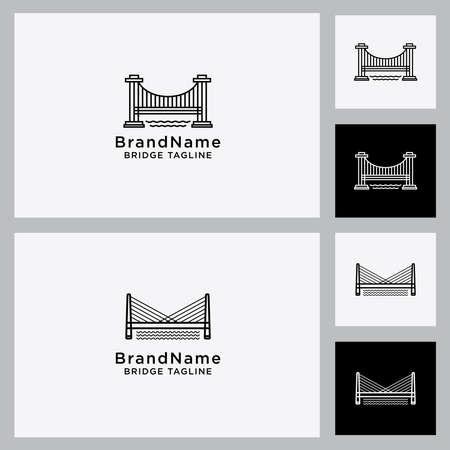 bridge vector icon design Set template Vector