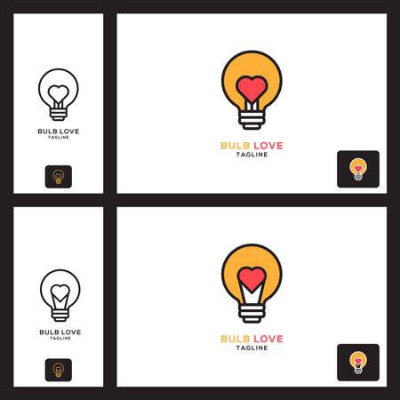 Love bulb icon Se vector illustration of logo template Illusztráció