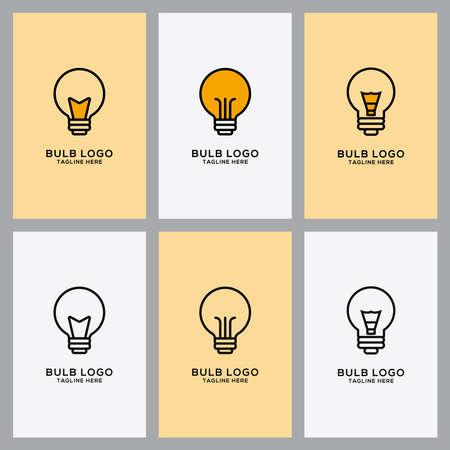 bulb icon Set vector illustration of logo template