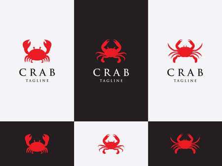 Vector Design Set Template, Emblem, Design Concept, crab with big claws. Illusztráció