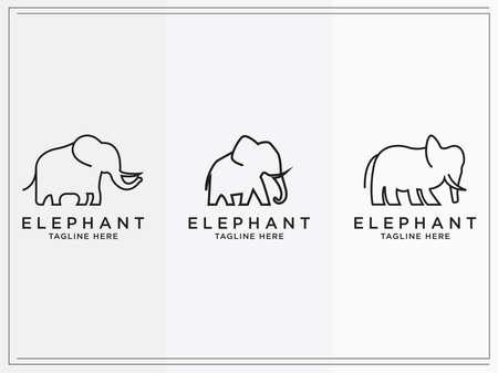 cattle logo Set vector collection. Elephant Design - Vector