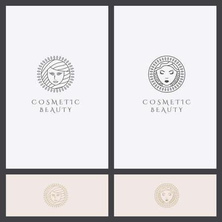 Vector logo Set design template for beauty, and, cosmetics