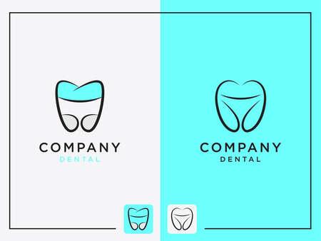 Dental tooth Logo Set Vector Design Template Illusztráció