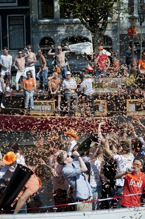 Amsterdam, Netherlands – April 30, 2011 - Queens Day Celebrations 2011 Stock Photo - 13256668