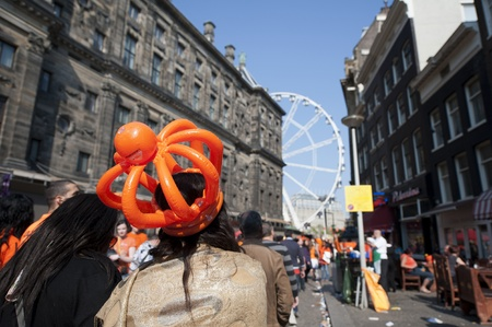 Amsterdam, Netherlands � April 30, 2011 - Queens Day Celebrations in Dam Square  Stock Photo - 13256780