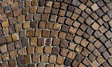 Mosaic colored pavers of small stones Stok Fotoğraf