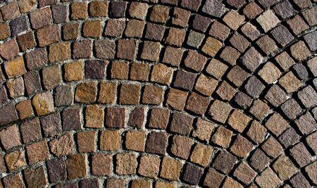 Mosaic colored pavers of small stones Standard-Bild