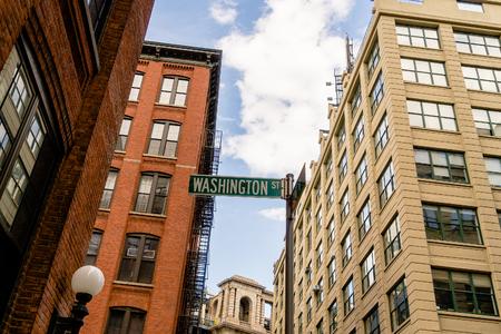 Street sign in Dumbo, Brooklyn, New York USA