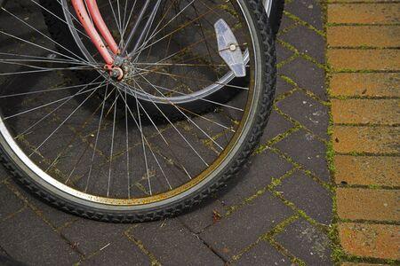 フロント自転車ホイール 写真素材