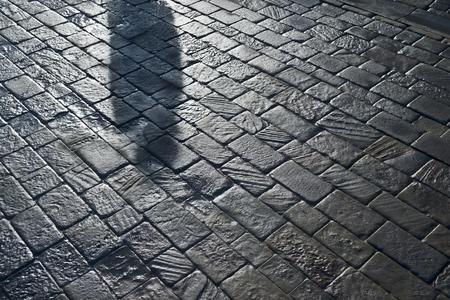 shadow on stones