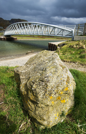 bridge and rock at Tonfanau. Mid Wales