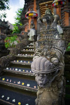 ubud: Detail of an entrance to hindu temple in Ubud, Bali