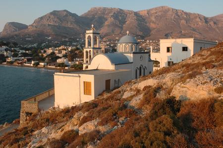 Greek orthodox church Agios Athanasios in Panormos village, Kalymnos island, Greece