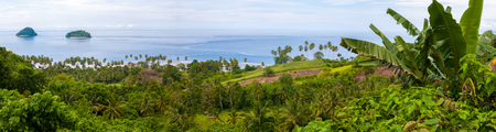 Rural landscape in North Sulawesi, Indonesia