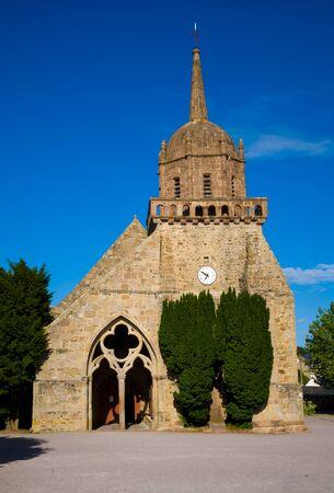 bretagne: Saint-Jacques church in Perros-Guirec, Bretagne, France Stock Photo