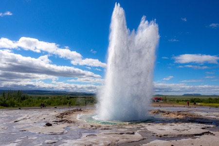 Strokkur Geysir on Golden Circle in Iceland Imagens - 109999822