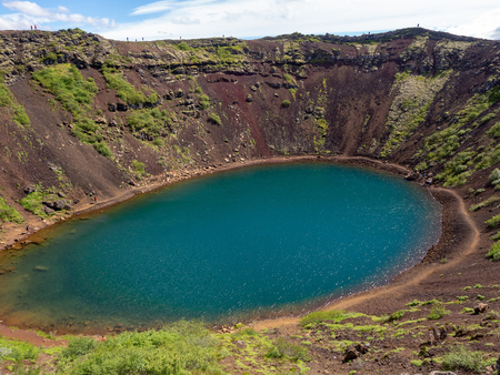 Kerid - Crater lake on golden circle in Iceland