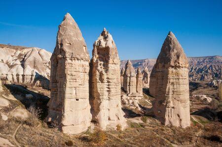 Sandstone formations in Goreme National Park, Cappadocia, Turkey Zdjęcie Seryjne