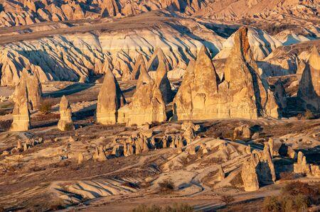 Landscape in Goreme National Park, Cappadocia, Turkey Zdjęcie Seryjne