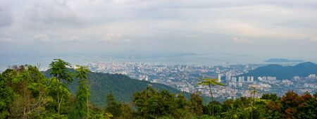 View from Penang Hill on Georgetown, Malaysia Reklamní fotografie