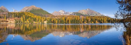 Strbske pleso lake in National Park of High Tatras, Slovakia