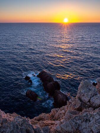 Sunset on Cape Lefkakda, Greece