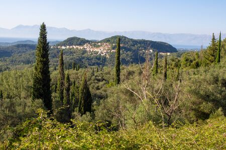 Landscape on Corfu island, Greece
