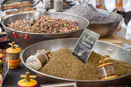 Provence herbs at the farmers matket in Arles, France
